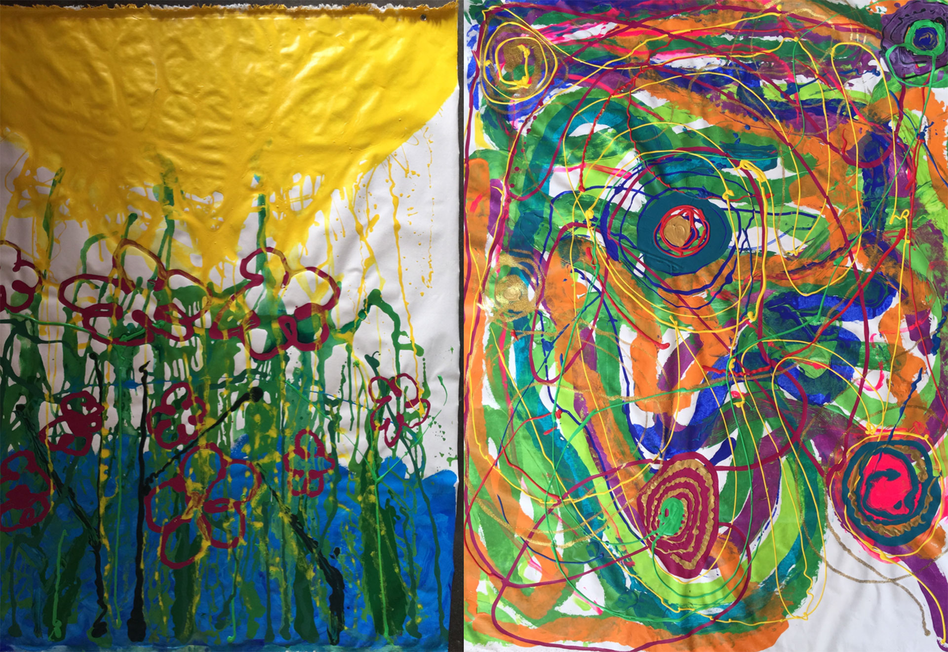 Please Do Touch -SDG 13-Diptychs Climate Action-Yaniv Janson-Acrylic on canvas 160-X-240cm-